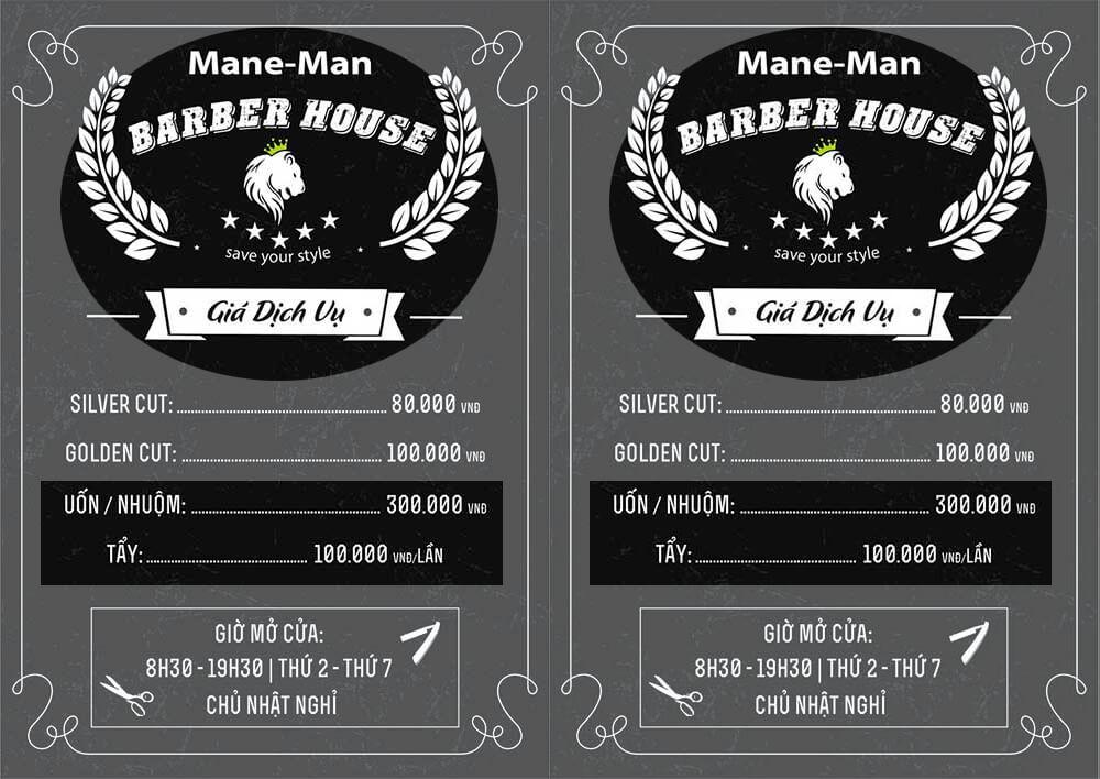 Bảng giá nhuộm tóc tại Mane-man Barber.