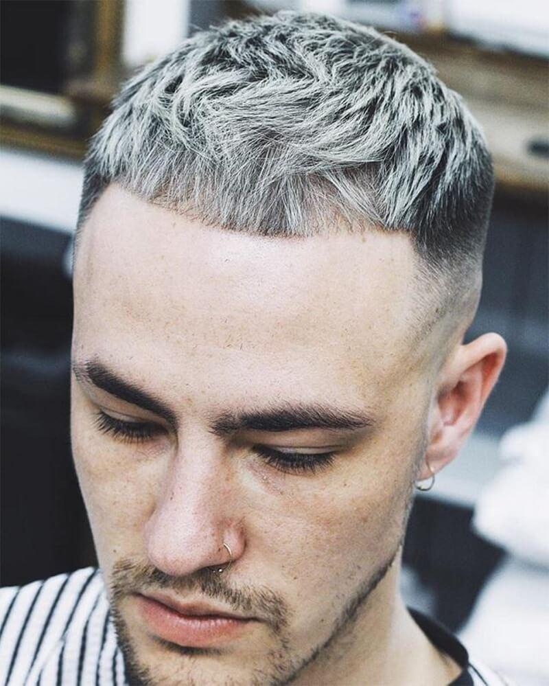 tóc nam màu Xám khói