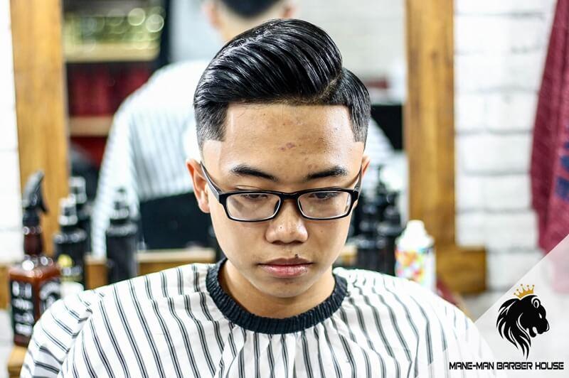 kiểu tóc nam đẹp side part cho khuôn Mặt Oval