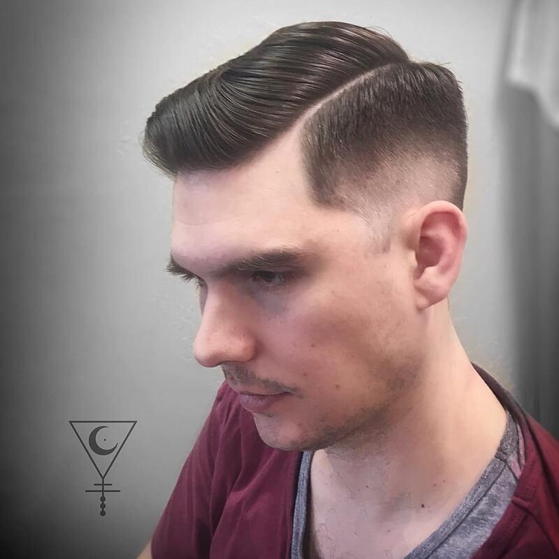 tóc side part ngắn