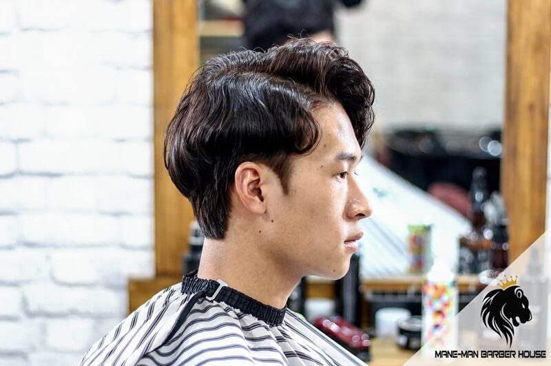 kiểu tóc side part vuốt rủ