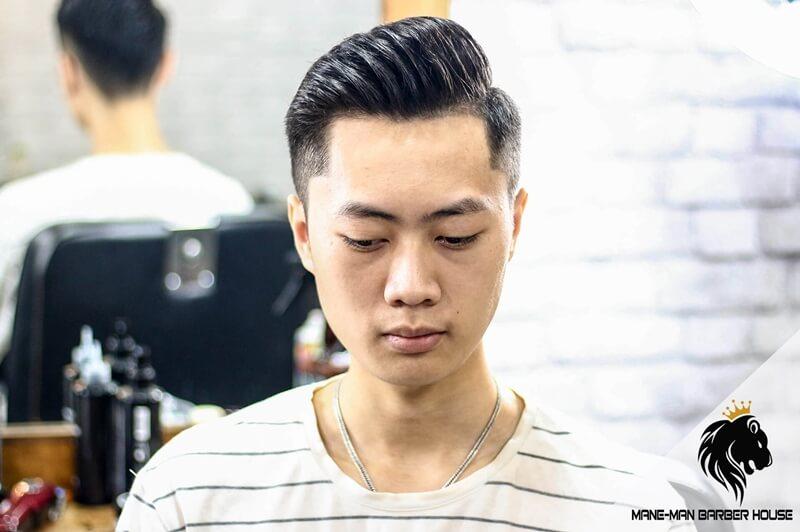 kiểu tóc side part cho Mặt trái xoan