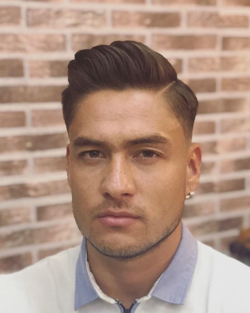 Kiểu tóc nam Side Part Quiff