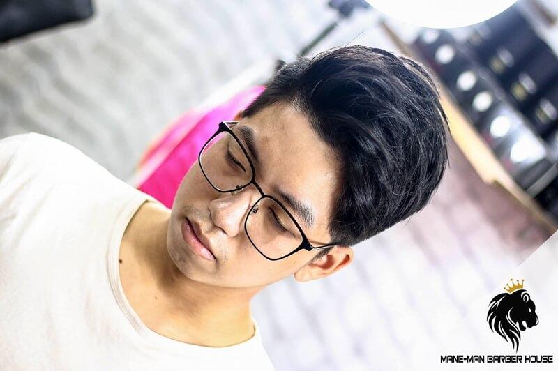 tóc side part cho khuôn Mặt vuông