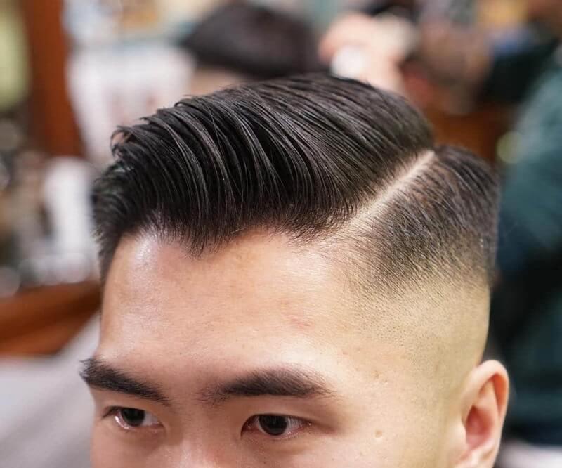 kiểu tóc side part đẹp uốn