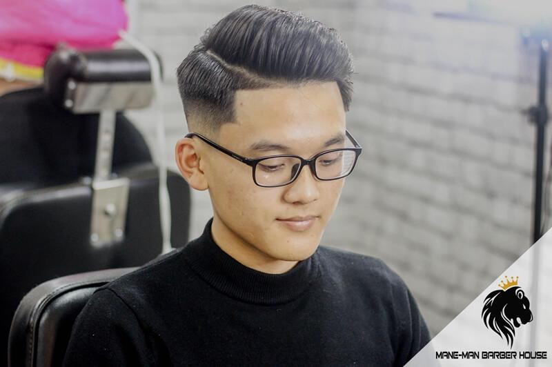 tóc side part đẹp cho Mặt tam giác