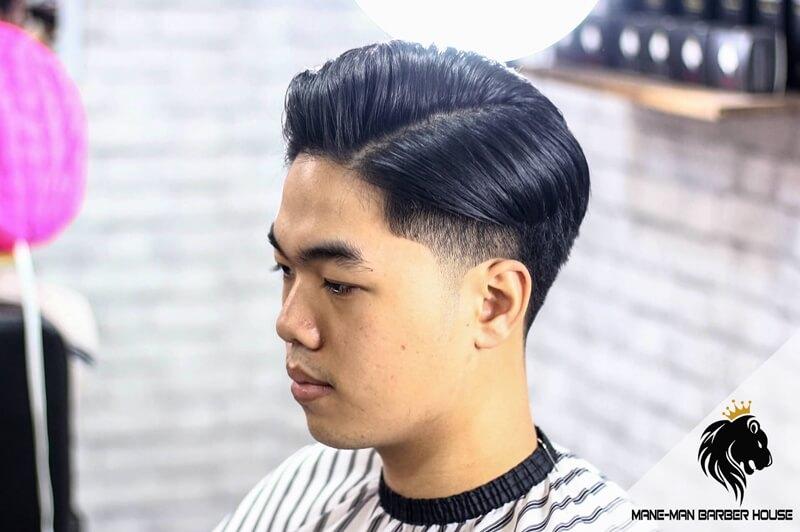 tóc side part cho kiểu khuôn Mặt tròn