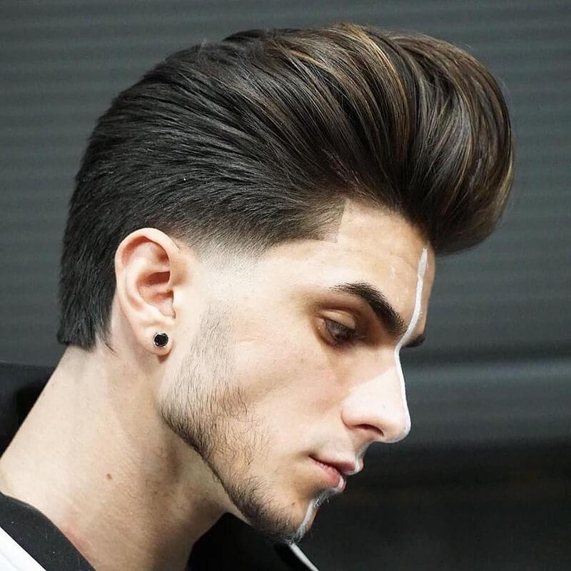 Tóc Pompadour dài