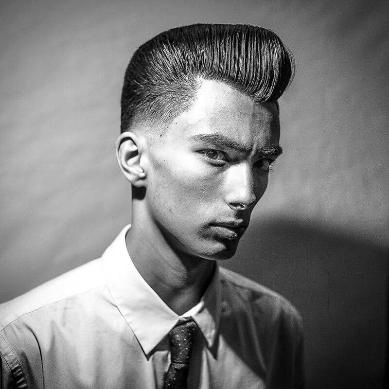 tóc Pompadour cổ điển