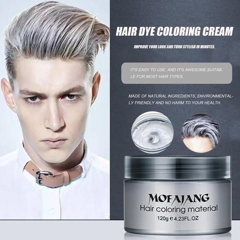 Sáp vuốt tóc tạo màu xám khói