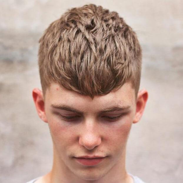 kiểu tóc Textured ngắn
