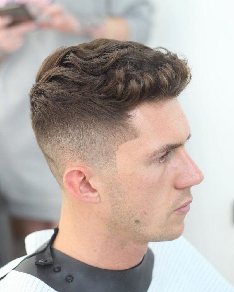 Kiểu tóc undercut vuốt ngược dạng quiff