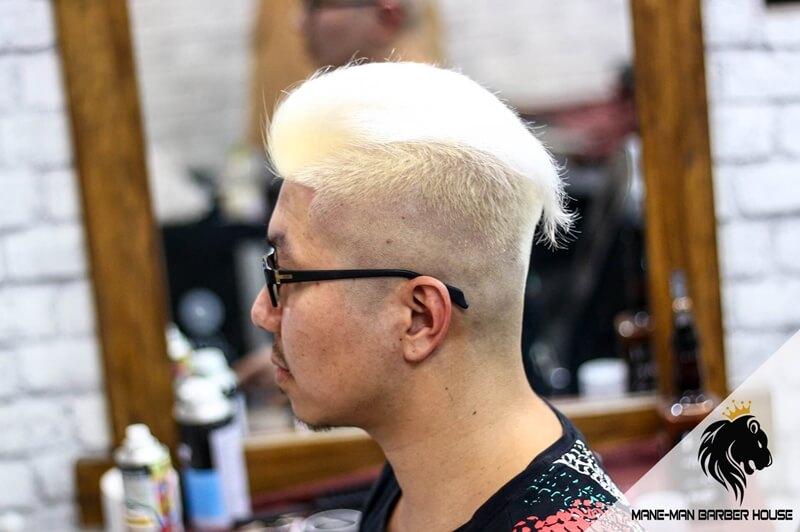 kiểu tóc undercut vuốt ngang